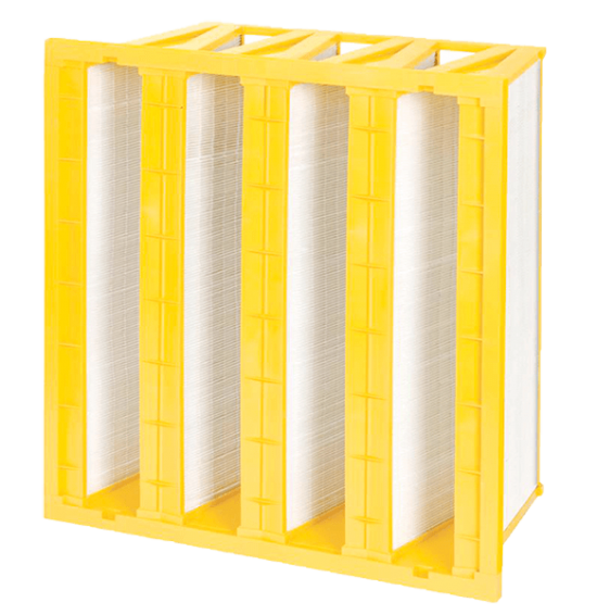 mini pleated v-bank filters